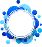 Round blue background. Paper round blue abstract background. Vector illustration Royalty Free Stock Image