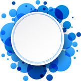 Round blue background. Paper round blue abstract background. Vector illustration Stock Images