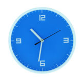 Round blue clock Stock Photo