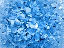 Blue glass crystals. Stock Photos