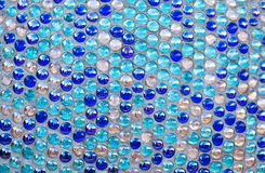 Round blue glass mosaic pattern Stock Photography