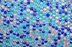 Round blue glass mosaic pattern Stock Photography