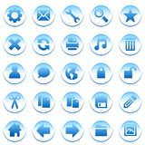 Round blue icons Royalty Free Stock Photography