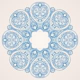 Round blue pattern Royalty Free Stock Image