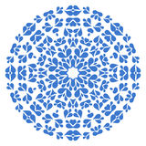 Round blue pattern on white background Royalty Free Stock Photography