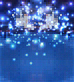 Round blue sparkling spots mosaic Stock Photos