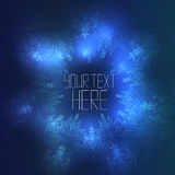 Round blue template with abstract vintage background Royalty Free Stock Photography