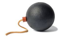 Round Bomb with Fuse Royalty Free Stock Photo
