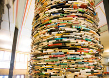 Round book shelf in the hall of the Library Royalty Free Stock Images