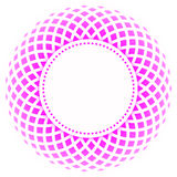 Round border frame pink Royalty Free Stock Photos