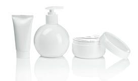 Round bottle tube and cream Royalty Free Stock Photo