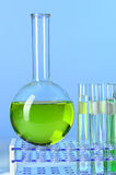 Round Bottom Flask and Test Tubes Stock Photography