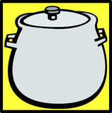 round bottom stock pot vector illustration Stock Photography