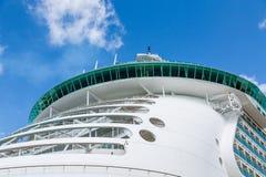 Round Bow Balconies on Cruise Ship Stock Photo