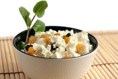 Round bowl with a delicious cream cheese Stock Photography