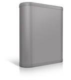 Round box. Software box Stock Photo