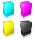 Round box. Software box Royalty Free Stock Photography