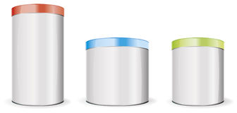 Round boxes Royalty Free Stock Images