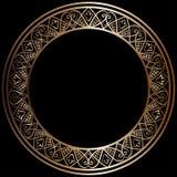 Round brąz rama royalty ilustracja