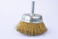 Round brass brush Stock Image