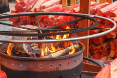 A round brazier Royalty Free Stock Photo