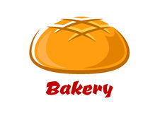 Round bread with baked crust Royalty Free Stock Images