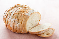 Round bread cut Royalty Free Stock Photos