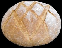 Round Bread Cutout Stock Photo