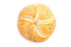 Round Bread Isolated Stock Photo