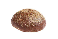 Round bread with sesame seeds Royalty Free Stock Photo
