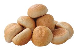 Round breads isolated on white Royalty Free Stock Image