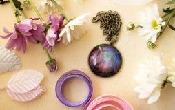 Round breloczek z obrazkiem Zdjęcia Royalty Free