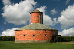 Round brick barn Royalty Free Stock Images