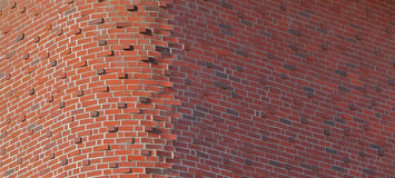 Round Brick Corner Horizontal Royalty Free Stock Image