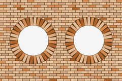 Round brick windows. Abstract vector art illustration Royalty Free Stock Image