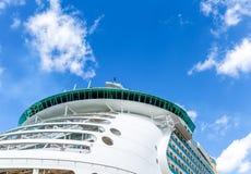 Round Bridge on White Cruise Ship. Cabins on Bow of Luxury Cruise Ship Royalty Free Stock Image