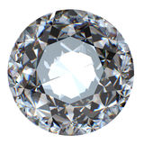 Round brilliant cut diamond perspective isolated Stock Images