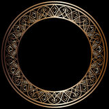 Round bronze frame Royalty Free Stock Images