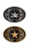 Round buckle. Western style with lone star of texas royalty free illustration