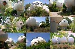 Round budynki w holandiach Fotografia Royalty Free