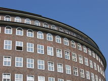 Round Building. Round part of a brick building in Hamburg, Germany Royalty Free Stock Photography
