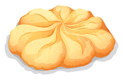 Round butter cookie on white Royalty Free Stock Photos