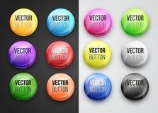 Round button Royalty Free Stock Photos