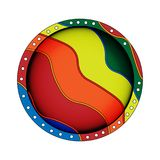 Round button in a flat style on a light background. Round button in a flat style on a light background Stock Image