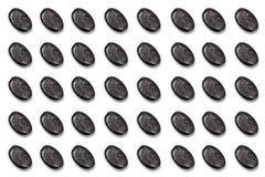 Round Button Series, 3 D Unlabeled with marble structure Stock Images