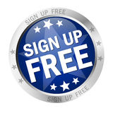 Round button Sign up free Royalty Free Stock Image