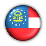 Round Button USA State Flag of Georgia Royalty Free Stock Photo