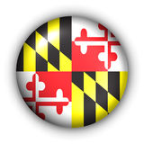 Round Button USA State Flag of Maryland Stock Photos