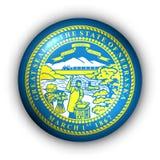 Round Button USA State Flag of Nebraska royalty free illustration