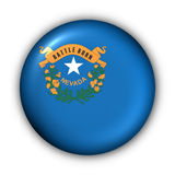 Round Button USA State Flag of Nevada Stock Photography